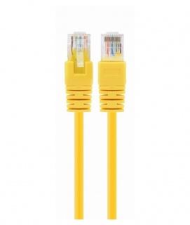 Cablu de retea RJ45 cat 5e UTP 0.25m Galben, Spacer SP-PT-CAT5-0.25M-Y