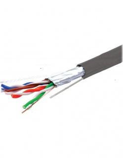 Rola cablu de retea RJ45 FTP cat. 5e cu sufa CU 305m Gri, TE088584