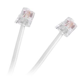 Cablu telefon RJ11 2m Alb, TEL0033F-2