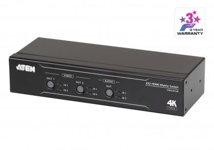 Matrix Switch 2 x 2 True 4K HDMI cu Audio De-Embedder, ATEN VM0202HB