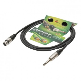 Cablu audio XLR 3 pini la jack stereo 6.35mm M-T 2.5m, NEUTRIK SG05-0250-SW