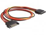 Cablu prelungitor alimentare SATA 15 pini 50cm, Delock 60132