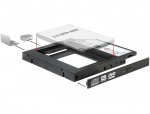 "Installation Frame (Caddy) Slim SATA 5.25 pentru 2.5"" SATA HDD 12.5mm, Delock 61993"