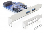 PCI Express 2 x USB 3.0 extern, 1 x USB 3.0 intern 19 pin, Delock 89315