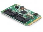 Mini PCIe I/O PCIe full size la 2 x SATA 6 Gb/s, Delock 95233