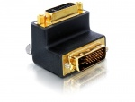 Adaptor DVI-I Dual Link 24+5pinI M-T unghi dreapta, Delock 65173