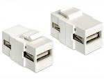 Modul Keystone USB 2.0 tip A M-M, Delock 86317