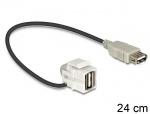Modul Keystone USB 2.0-A 110 grade mama, Delock 86327