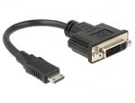 Adaptor mini HDMI-C la DVI 24+5 pini T-M 20cm, Delock 65564